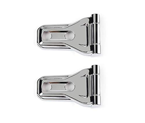 FMtoppeak 4Colors Car Accessories Front Engine Hood Hinge Cover Decoration Sticker ABS Compatible with Jeep Wrangler JL 2018 UP (Chrome)