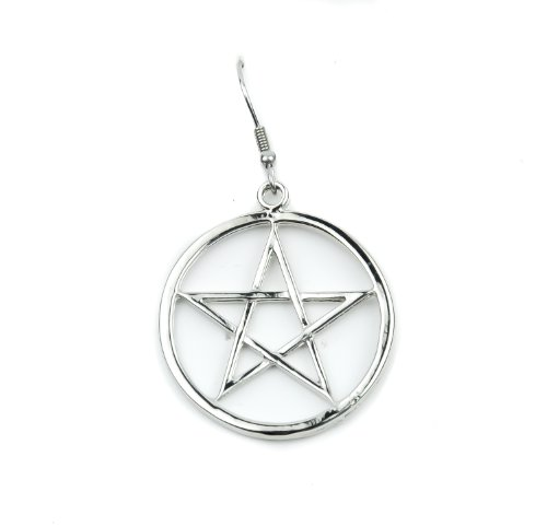 Woven Pentacle Gothic Earrings