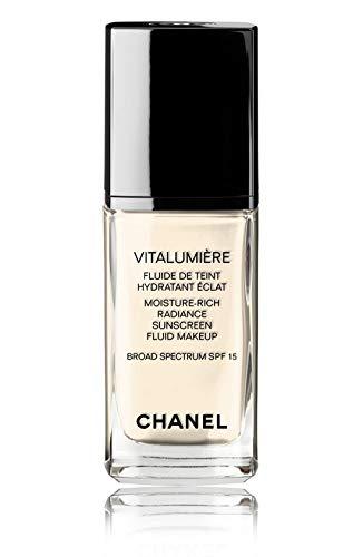 VITALUMIÈRE Moisture-Rich Radiance Sunscreen Fluid Makeup Broad Spectrum SPF 15 Color: 07 Ivoire