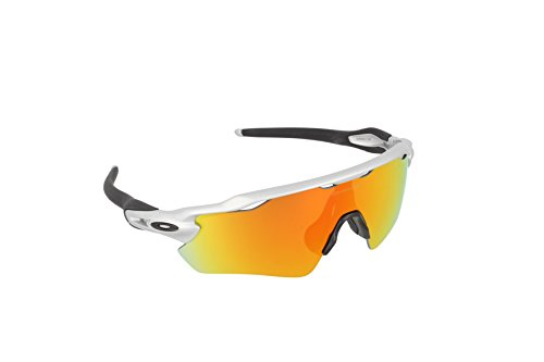 Oakley Men's Radar OO9208-02 Shield Sunglasses, Silver, 138 - Oakley Sunglasses Running