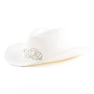 Groom Cowboy Hats - White