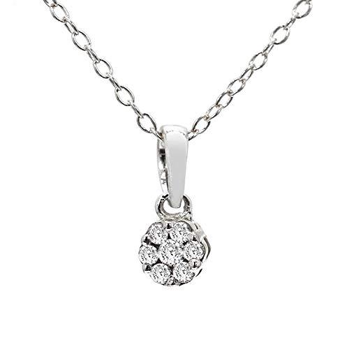 100% Pure Diamond Pendant Luxury Cluster Necklace 1/10ct IGI Certified Lab Grown Diamond Casual Pendant For Women Lab Created Diamond SI-GH Quality 10K Real Diamond Pendant Necklace