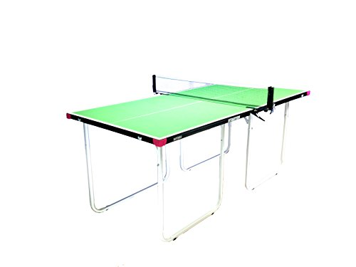 Butterfly Starter Table Tennis Table - Mid Size - 3 Year Warranty - No Assembly - Folding Legs - Compact Storage - Net Included