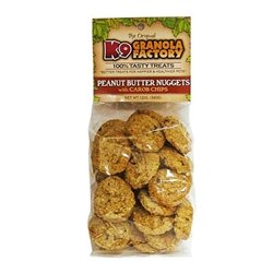 K9 Granola Factory Peanut Butter Nuggets with Carob Chips Dog Treats (12 oz. bag)