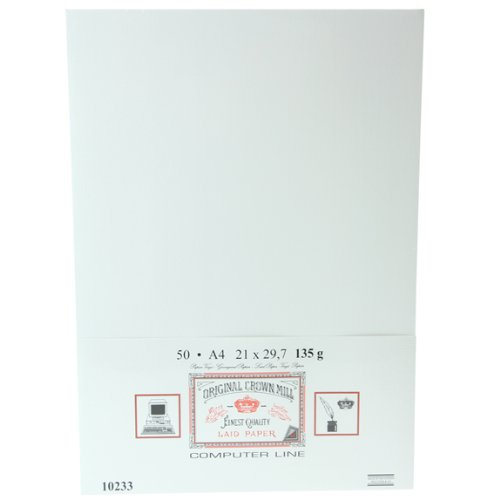 Original Crown Mill Finest Quality Laid Computer Paper A4 135g 50pk White 10233