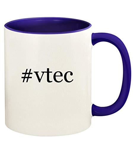 #vtec - 11oz Hashtag Ceramic Colored Handle and Inside Coffee Mug Cup, Deep Purple
