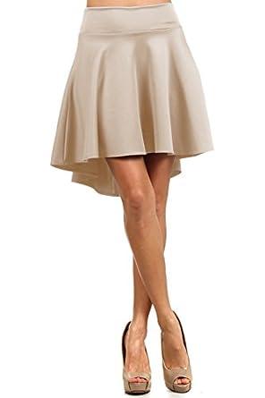 High Waisted Women's Hi Low Skater Skirt at Amazon Women's ...