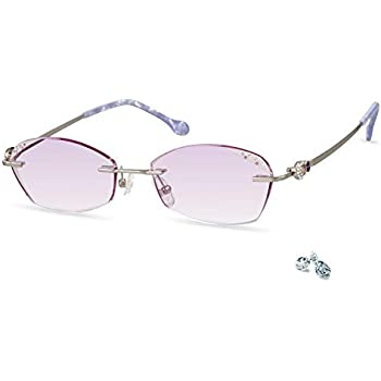 5b9be249a623 LifeArt Blue Light Blocking Rimless Glasses,Computer Reading Glasses,Reduce  Headaches&Eyestrain,Stylish for Women/Men+0.00(No Magnification)