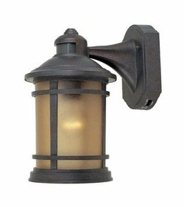 371MD-MP Sedona Motion Detector - One Light Outdoor Wall Lantern, Mediterranean Patina (Designers Fountain Motion Detector)