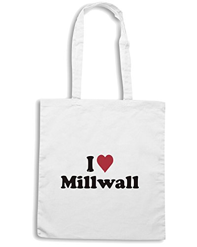 T-Shirtshock - Borsa Shopping WC0400 I Heart Love Millwall Bianco