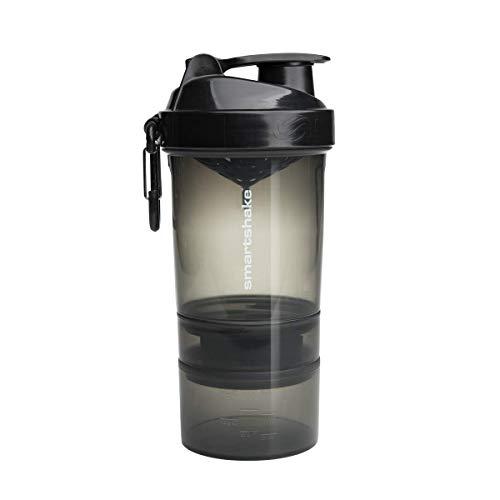 Smartshake Original 2GO, 20 oz Shaker Cup, Gunsmoke Black (Packaging May Vary)