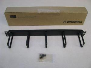 OR-60400131 - Ortronics 5 Ring Horizontal Distribution Panel, 1RU, Black
