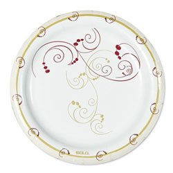 SCCMP9SYM - Symphony Design Poly-coated 8 1/2quot; Paper Plates