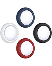ESR Adhesive Tag Holder Compatible with AirTag Case [4 Pack] Silicone Protective Case, Portable Stick-On Air Tag Cover,Blue/Red/Black/White
