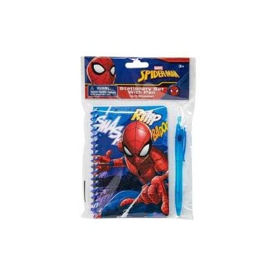 Spiderman & Licence Spiral Notebook with Assorted Pen for Boys(+3 Years) (Spiderman): Toys & Games