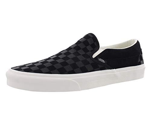 - Vans Classic Slip-On, Unisex Adults Slip On Trainers, Black (Checker Emboss/Black/Marshmallow Qcf), 11 (46 EU)