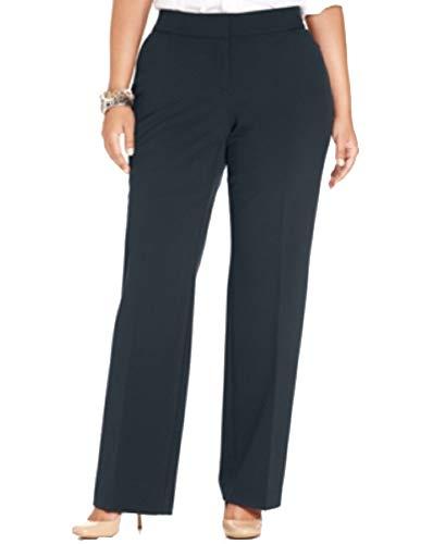 JM Collection Plus & Petite Plus Size Curvy-Fit Straight-Leg Pants (Intrepid Blue, 22W)