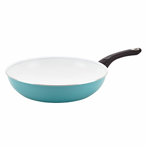 Farberware PURECOOK Ceramic Nonstick Cookware 12.5-Inch Deep Skillet, Aqua