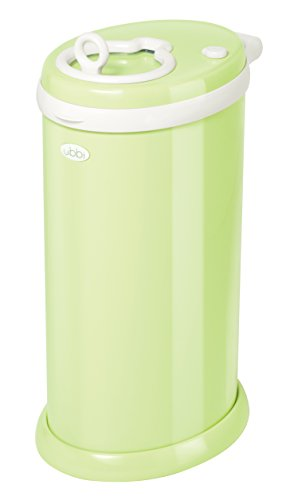 Ubbi Money Saving, No Special Bag Required, Steel Odor Locking Diaper Pail, Pistachio by Ubbi