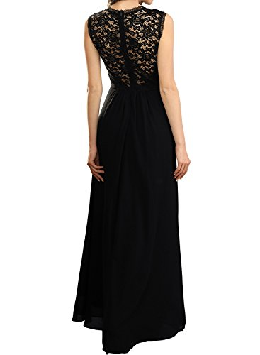 Miusol Womens Casual Deep- V Neck Sleeveless Vintage Wedding Maxi Dress