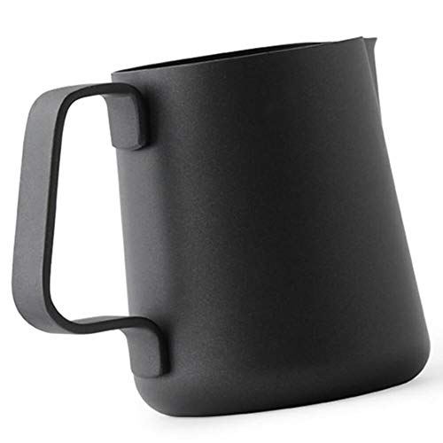 Ilsa Non Stick Milk Frothing Pitcher Professional Latte Art Milk Steaming Jug Stainless Steel, Black - 800ml / 27oz by Ilsa (Image #2)
