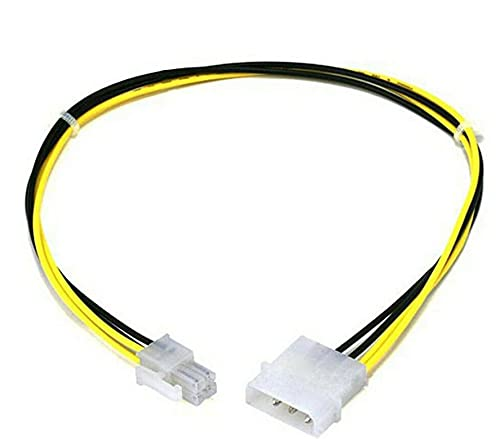 4 Pin MOLEX to ATX P4 CPU 4-Pin 12V PSU Power Supply Connector Adapter Cable | Motherboard Power Switch