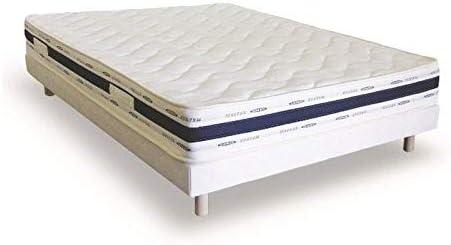 Conjunto de somier tapizado y colchón de lujo de 140 x 190 cm
