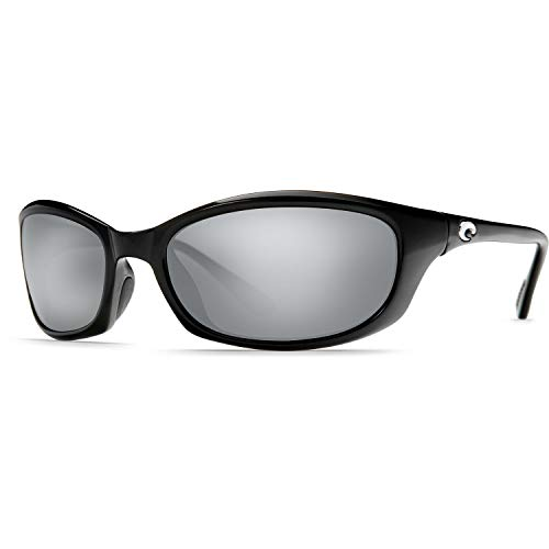 Costa Del Mar Sunglasses - Harpoon- Glass / Frame: Shiny Black Lens: Polarized Silver Mirror Wave 580 ()