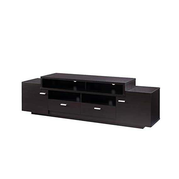 Furniture of America Braswell Wooden 72-inch TV Stand in Cappuccino - Finish: Cappuccino Materials: Wood, Veneers Sturdy wood frame for lasting quality - tv-stands, living-room-furniture, living-room - 31cHYvFCscL. SS570  -