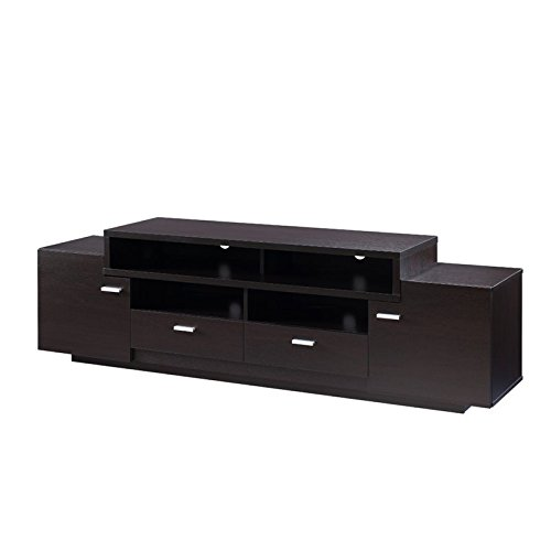 Furniture of America Braswell 72″ TV Stand in Cappuccino For Sale