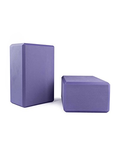 Nu-Source Yoga Block (2-Piece), Purple, 9 x 6 x 4-Inch