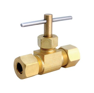 "Jmf Needle Valve 5/16 "" Compression Yellow Brass Bulk 400 Psi < 0.25 % Lead by Jmf Company"