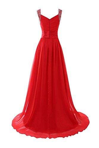 Long Evening Bess Chiffon Straps Bridal Prom Royal Blue Beaded Women's Formal Dress tgnBwA0q