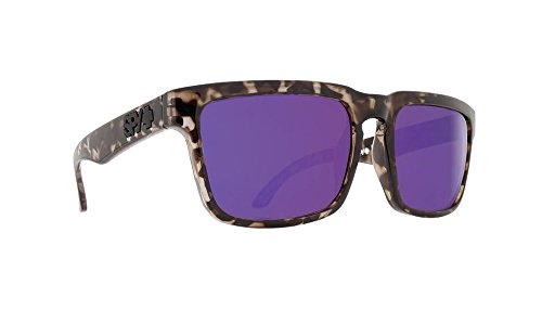 Spy Optic Helm Sunglasses Smoke Tortoise w/Happy Purple Spectra Lens + Sticker
