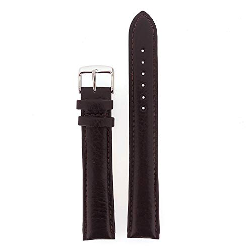 XXXL Watch Band Leather Padded Mens Black or Brown (18mm, 20mm or 22mm)