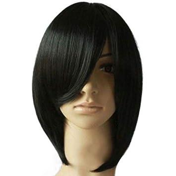 per feste Parrucca corta da donna con frisette inclinata P12cheng cosplay colore: marrone scuro Light Brown alla moda