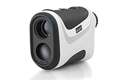 Top Golf Laser Rangefinder by Go-Golf: Digital Golf Yardage Range Finder w/Pin Sensor & Pulse Tech | Easy To Use | Compact, Accurate & Clear Reading | Golf Rangefinder Binoculars | Great Gifting Idea
