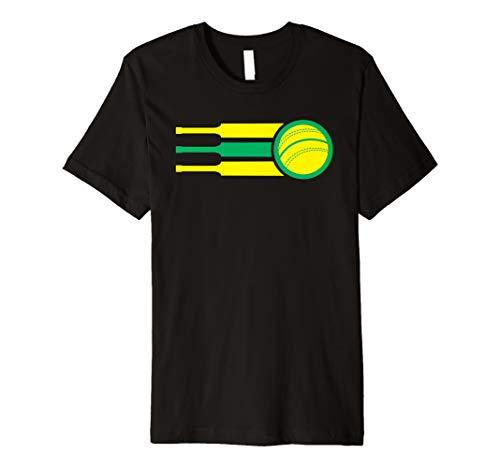 Australia Cricket Team Tshirt Australian Cricket Fan Flag  Premium T-Shirt (Shirts Cricket T Australia)