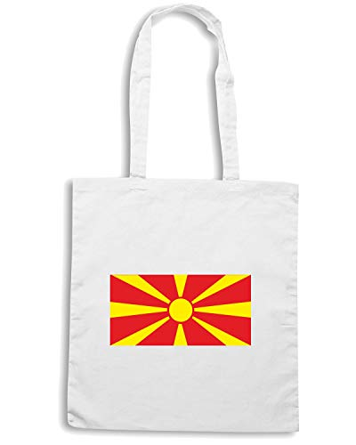 Speed Borsa Shirt Bianca FLAG MACEDONIAN TM0210 Shopper qTPBrSq