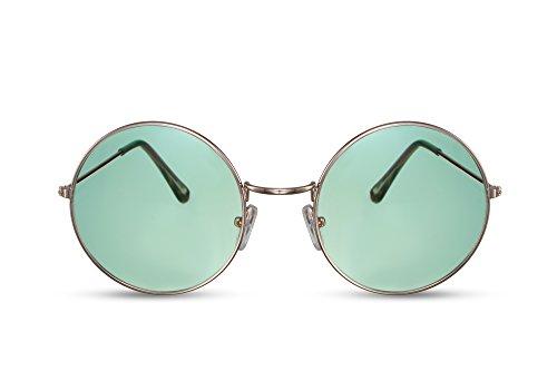Miroitant Or Ca Noir Léo Rondes Rétro Lunettes 023 Marron Cheapass Sunglasses fgqIUU