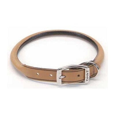 "Pet 0.4"" W Leather Round Collar Size: 0.4"" W x 10"" D, Color: Red"