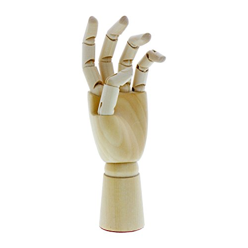 US Art Supply Artist Drawing Hand Manikin Articulated Wooden Mannequin (7'' Left Hand) by US Art Supply