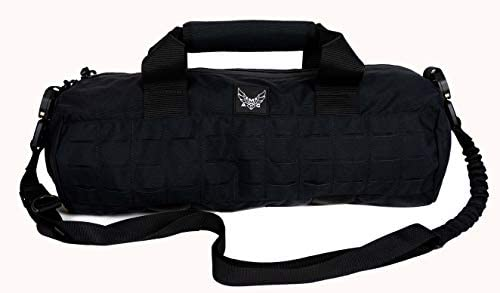 AMG Peruga Small Military Inspired Duffle Bag with Lazer Cut MOLLE Black