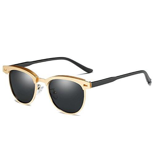 gafas sol sol C2 de gris calidad de Alta gafas C2 TIANLIANG04 polarizadas Gold de Unisex de Grey Guía Hombres Gafas Gold xnX0zqZwZO