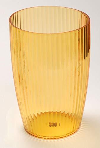 Ben & Jonah Ribbed Acrylic Waste Basket in Orange Splash Collection ()