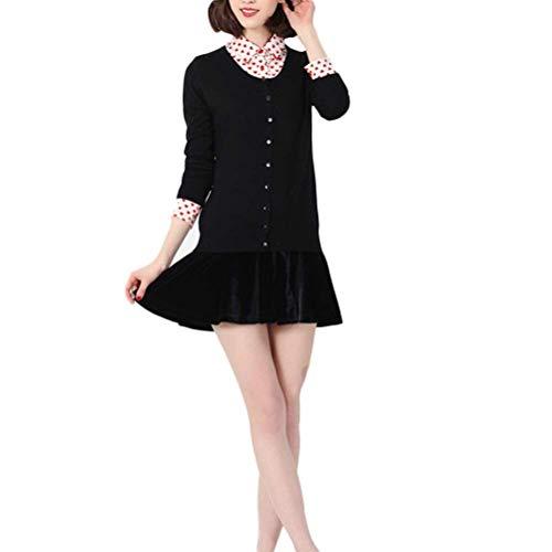 Moda Festiva Mode Di Elegante Maglia Lunga Slim Cappotto Marca Puro 0HwTPU