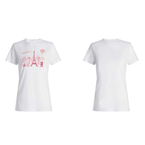 París Francia Amor Divertido Novedad Nuevo camiseta de las mujeres k64f