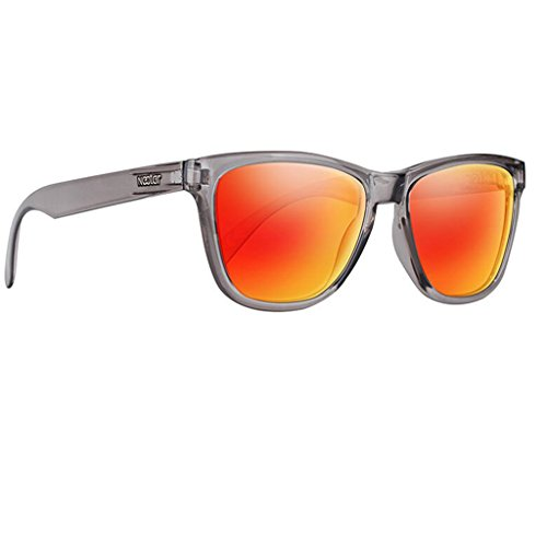 NECTAR Polarized Sunglasses for Men & Women with UV Protection | Over 20 Styles (Grey Frame | Orange/Red Mirror EuphoricHD Polarized Lenses)