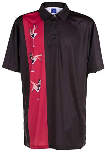 ReadyGOLF Mens Golf Polo Shirt - Martini Girls Large