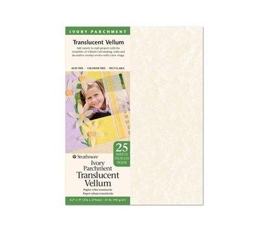 Ivory Parchment Translucent Vellum 8.5x11